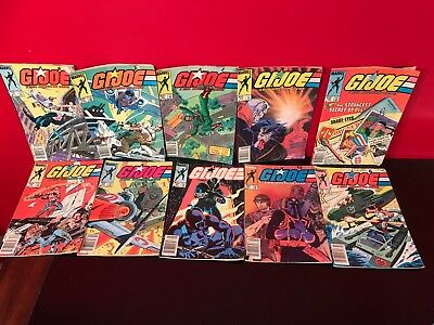Lot Of 10 Rare G.I. Joe A Real American Hero Marvel Comics Books W/ #20, 29 +