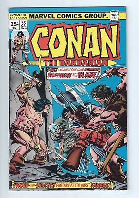 CONAN THE BARBARIAN #53 (1975) VF/NM 9.0 unstamped cents