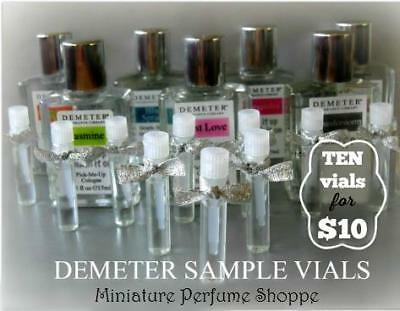 Demeter Samples | Pick 10 from Demeter Fragrance Library at Mini Perfume Shoppe