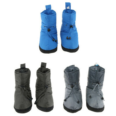 Soft Duck Down Shoes Slippers Winter Warm Tent Booties Boots Cover Outdoors