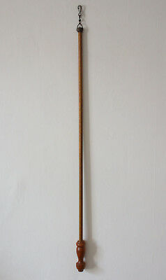 Vintage Wooden Curtain Pull Opener Pole Turned Handle Antique Wood