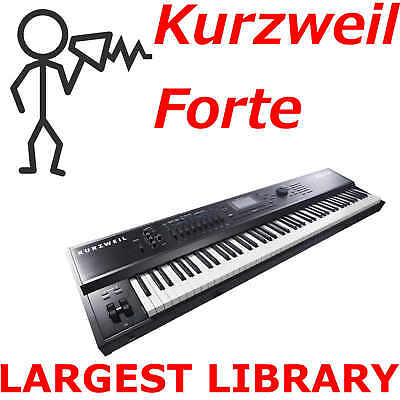 Kurzweil Forte Forte7 ForteSE Largest Program Patch Sound & Sample Library