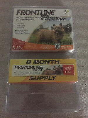 Frontline Plus for Small Dogs 5-22 lbs. 8 Doses - Flea & Tick Treatment # 4489