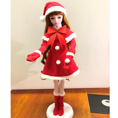 1/3 BJD Doll Outfit Christmas Suit -Xmas Clothes Dress for Night Lolita Doll