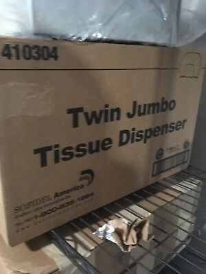 "Sofidel America 9"" Twin Jumbo Tissue Dispenser"
