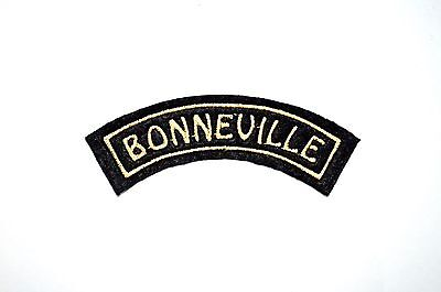 Classic Triumph Bonneville Embroidered Curved Motorcycle Patch