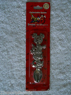 2008 Disneyland Collectible Spoon Mickey Mouse Donald Duck Goofy Pluto
