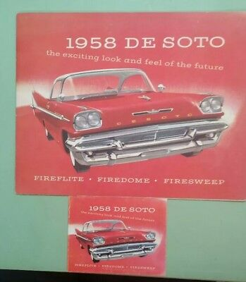 1958 DeSoto deluxe brochure with small version