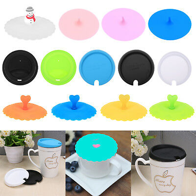 Silicone Solid Leakproof Insulation Tea Cup Lid Coffee Sealing Anti-Dust Cover