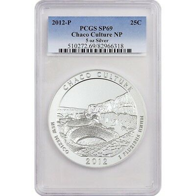 2012-P Chaco Culture PCGS SP69 America The Beautiful ATB 5 Oz Silver Coin