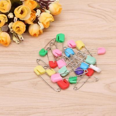 20Pcs Child Infant Baby Locking Holder Nappy Cloth Diaper Pins Safety Colorful