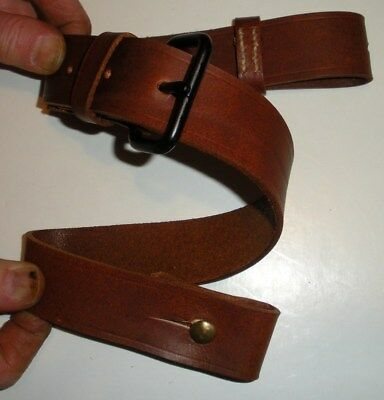 Japanese WWII Arisaka T99 Rifle Sling Brown Leather