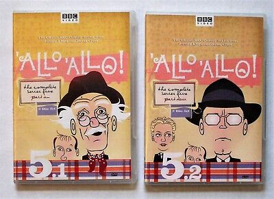 ✔️ Allo Allo Five 5 The Complete Series Part Un 1 and Deux 2 DVD Set Lot BBC