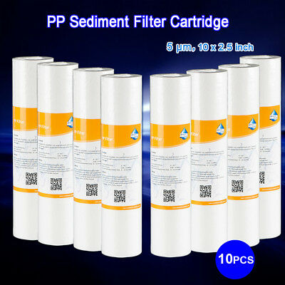 """10PK- 10""""x 2.5"""" Sediment Filter Cartridge for RO & Whole house Biodiesel WVO SVO"""