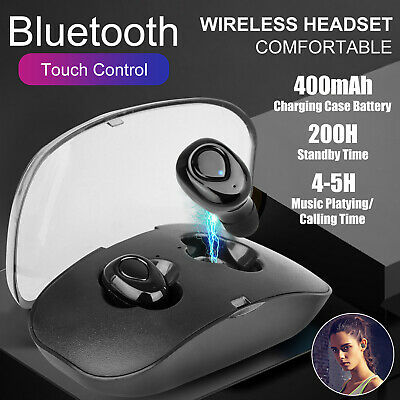 Bluetooth Headphone Mini Ture Wireless Earbuds Waterproof In Ear Stereo Headset