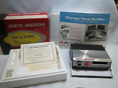 Vintage NORTH AMERICAN TP-1070  PlayTape 2 Track Cartridge Player  Made in Japan