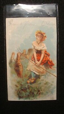Antique - Vintage - Trade Card - KIRK'S WHITE RUSSIAN SOAP - Michigan - RARE