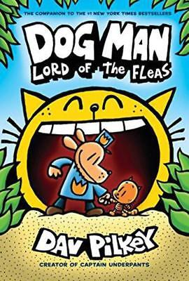 Dog Man #5: Lord of the Fleas - Dav Pilkey - Free Shipping