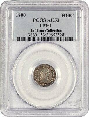 1800 H10c PCGS AU53 (LM-1) ex: Indiana Collection - Early Half Dimes