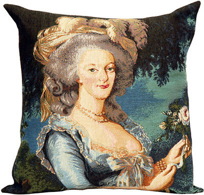 Marie Antoinette French Renaissance Decorative  Woven Tapestry Cushion Cover