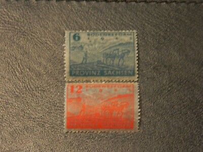 Germany Allied Occupation Stamps SG RC24/25 MNH Thin Transparent Paper Saxony.