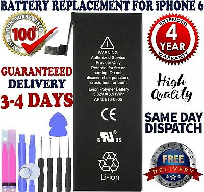"""1810mAh Li-Ion Internal Battery For iPhone 6 4.7"""" Replacement + Tools kits"""