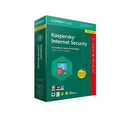 Kaspersky Internet Security 2018 Mise à jour | 3 Postes | 1 An |...