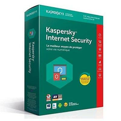 Kaspersky Internet Security 2018 | 5 Postes | 1 An | PC/Mac/Android/iOS |...