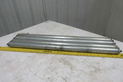 """1.9"""" OD x 35-1/2"""" BF 34"""" Face Gravity Conveyor Roller 7/16"""" Hex Axle Lot Of 4"""