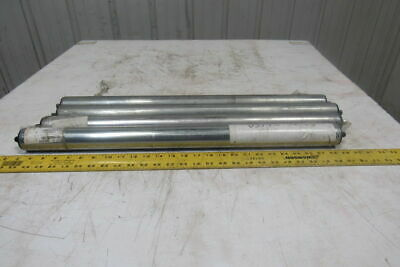 """Dematic 1.9"""" OD x 25-15/16""""BF  Gravity Conveyor Roller 7/16"""" Hex Axle Lot Of 4"""