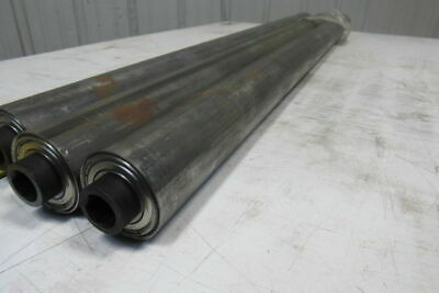 """Dematic 2.19"""" OD x 34-15/16"""" BF Gravity Conveyor Roller 11/16"""" Hex Bore Lot Of 3"""