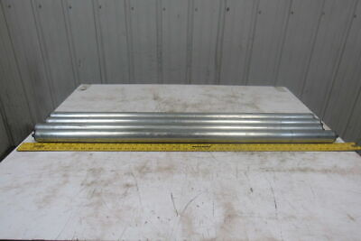 """Dematic 1.9"""" OD x 44"""" BF Gravity Conveyor Roller 7/16"""" Hex Axle Lot Of 4"""