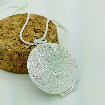 Jewelry Charms Chain Beautiful Rahmen Silver Plated Necklace Pendant