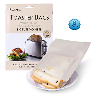 Ankway Toaster Bags (Pack of 6), Non-Stick Reusable Snack Cheese Panini...