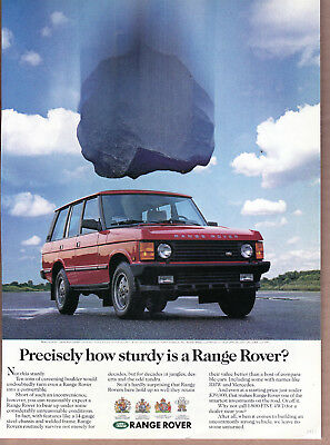 "1992 Range Rover Ad ""Precisely how sturdy...."" Print Ad"