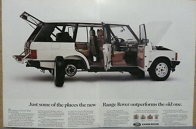 "1993 Range Rover Ad ""Just some of the places..."" Print Ad"