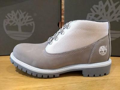 size 40 6baef d0d29 TIMBERLAND MEN'S CAMPSITE CHUKKA BOOTS - UK 8.5 - EU 43 - New Grey off white