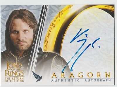 Lord of the Rings Return of the King Viggo Mortensen (Aragorn) Autograph Card