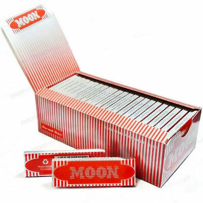 "Moon Red 1.0"" 50 booklets 70*36mm Cigarette Tobacco Rolling Papers Wood Papers"