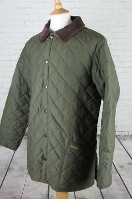 Mens Barbour Eskdale Quilted Jacket Coat Country Wear Casuals Green Medium