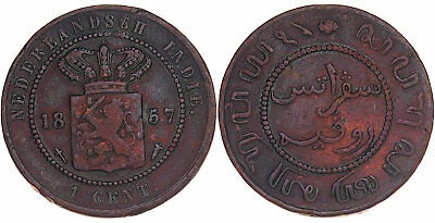 Netherlands Indies - 1 Cent 1857