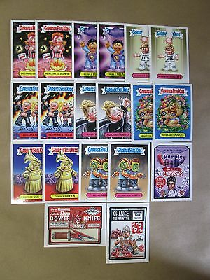 """2017 Topps Wacky Packs """"the Shammy""""s"""" Complete Set Of 19-Chance The Wrapper +"""