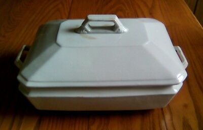 Antique White Ironstone China Tureen & Lid - H. Alcock & Co. - Dated 1884