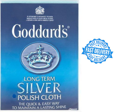 Goddards Long Term Silver Polish Cloth Shine Bling SU UK
