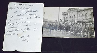 Russia Khabarovsk on Amur 1917 WWI RPPC Street cene Beauty & Photography Stores