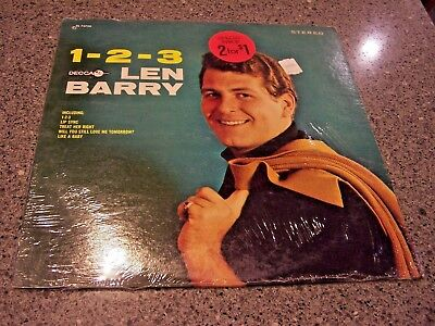 "Len Barry ""1-2-3"" DECCA LP DL 74720 W/SHRINK & ORIGINAL INNER SLEEVE W/HYPE"