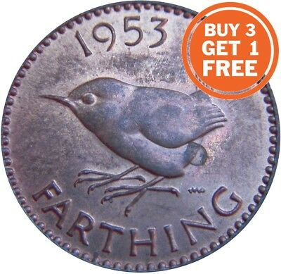 Farthing Queen Elizabeth 2Nd Coin Choice Of Year 1953 To 1956