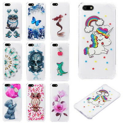 Slim Shockproof Clear Soft Bumper TPU Case Cover For Huawei Y5 Y6 Y7 Prime 2018