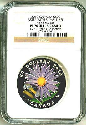 2012 Canada S$20 Aster With Venetian Glass Bumble Bee Colorized NGC PF70 UC