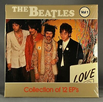 """BEATLES Collection of 12 EP's Vol. 1 Orig.1983 MEXICO 7"""" VINYL Records x12 + PS"""